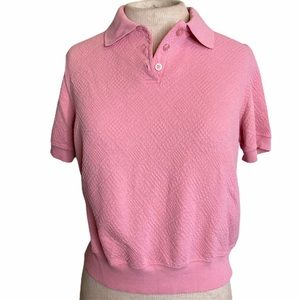 Alfred Dunner Polo Shirt Pink PM Vintage